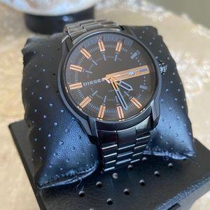 Diesel black stainless steel watch